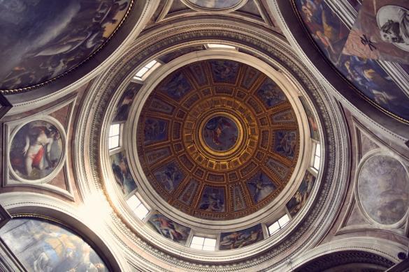Deckenmalerei, Santa Maria del Popolo, Decke, Kirche, Chigi Kapelle, Urlaub, Städtetrip, Must See, Reiseblog, Reiseblogger, vacation, citytrip, Rome