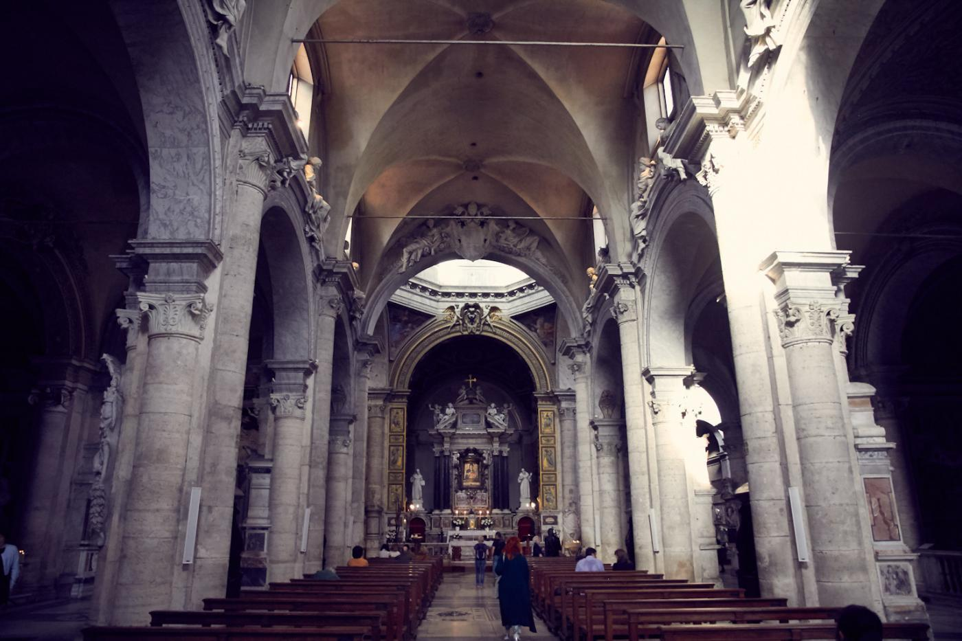 Rom, Rome, Italien, italy, Santa Maria del Popolo, Kirche, Kirchenschiff, Mittelschiff, Altar, schönheit, Citytrip, Rome, Must See, Reiseblogger