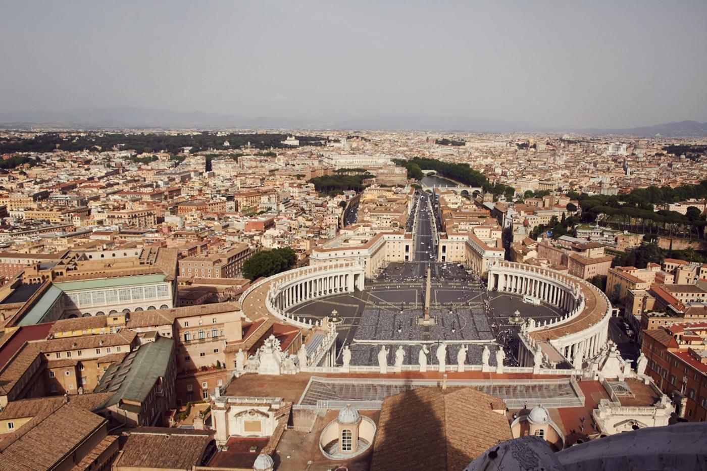 Ausblick, Petersdom, view, rooftop, Rom, Rome, cityview, fantastisch, besonders, Petersplatz, Vatikan, Engelsbrücke