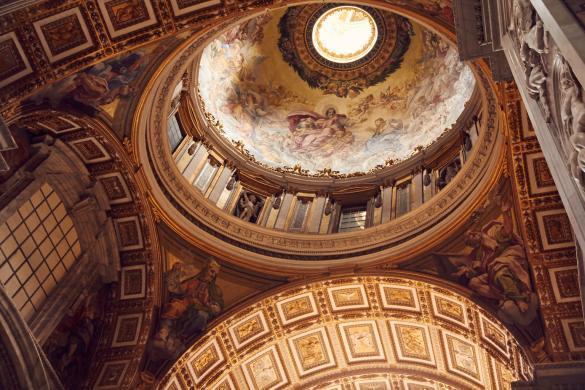Petersdom, Kathedrale, Vatikan, antik, heilig, heiliges Jahr, Deckenmalerei, Fresken