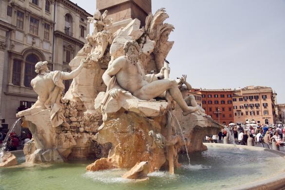 Piazza Navona, Vier Ströme Brunnen, Bernini, schön, flair, italienisch, Italien, Rom, Urlaub, Reiseblogger