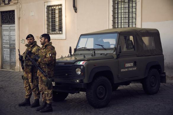 Rom, Polizisten, Polizei, Militär, heiliges Jahr, Polizeipräsenz