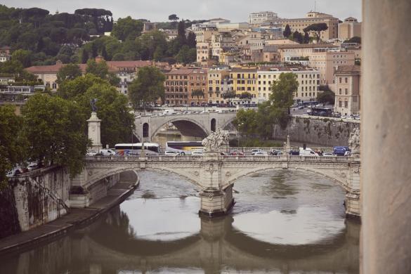 Rom, Ausblick, Italien, Brücke, Tiber, Engelsburg, cityview, Architektur, reisen, Reise, Städtereise, Europa, Europtrip, Miles and Shores