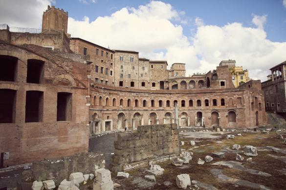 Trajansmaerkte, Rom, Städtetrip, Ruinen, erhalten, spannend, Geschichte leben, Eurotrip, Miles and Shores