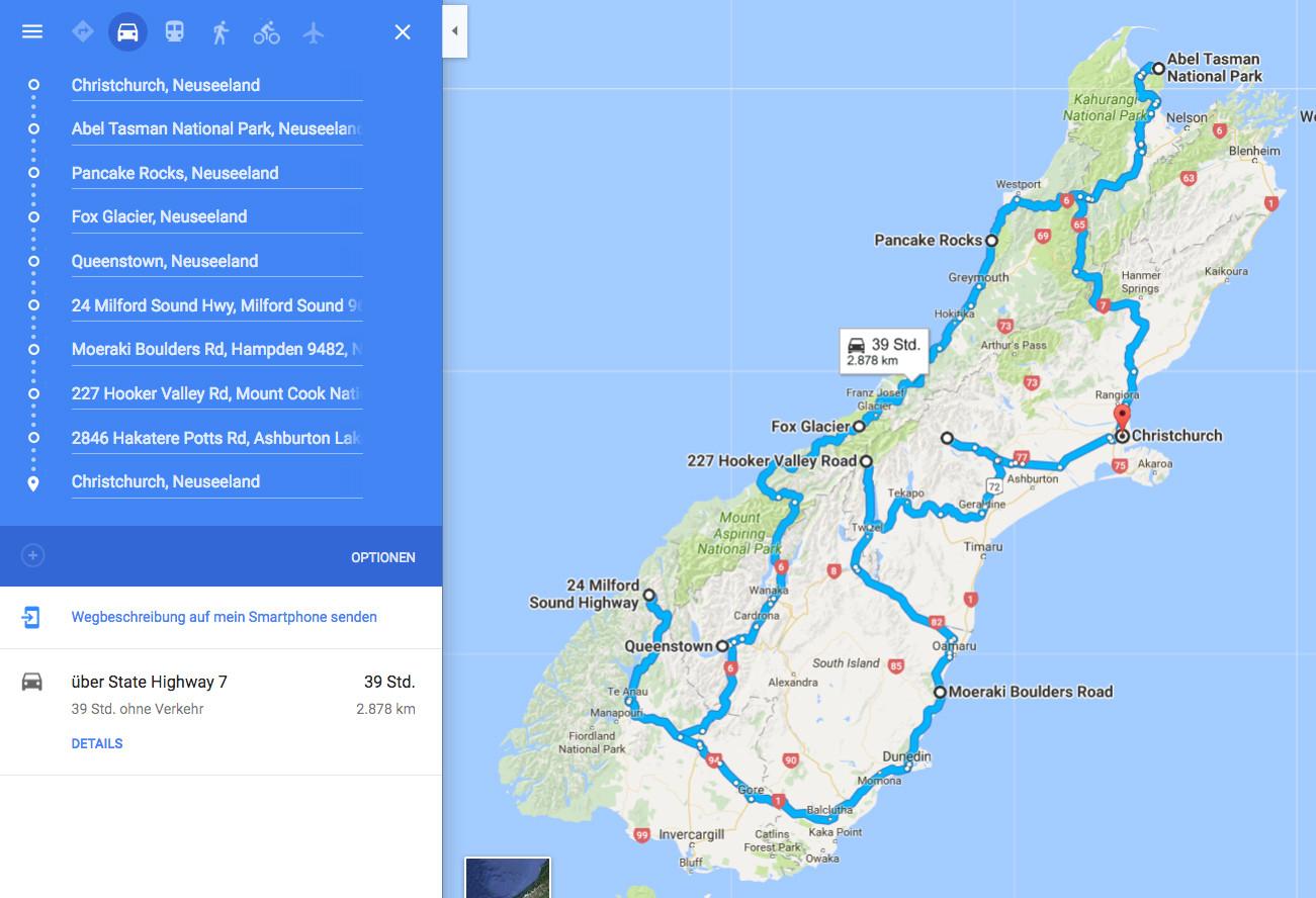 Route, Reiseroute, googlemaps, Plan, planung, Urlaubsplanung, Fahrtroute, Fahrplan, Reisevorbereitung, MIles and Shores