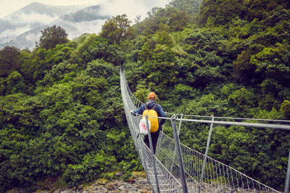 Copland Track, Swingbridge, Hängebrücke, überqueren, Chrisi, Miles and Shores, Reiseblogger, Neuseeland, New Zealand