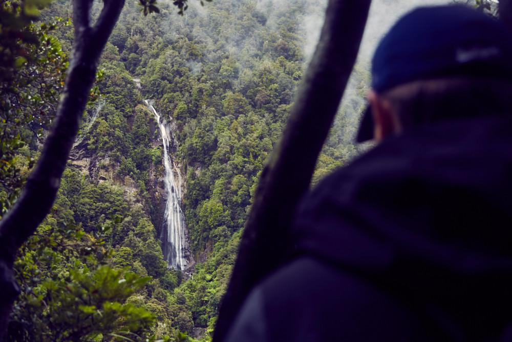 Wandern, Wanderung, Copland Track, Wanderroute, Wasserfall, waterfall, Urwald, Regenwald, Aussicht, Neuseeland, New Zealand, Südinsel