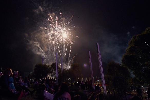 Feuerwerk, Moomba, Festival, Melbourne, Volksfest, Jahrmarkt, Abschluss, grosses
