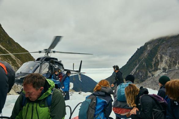 Fox Glacier, Gletscher, Heli Hike, Fox Tours, guided tour, geführte Tour, Gletscherwandern, Hubschrauberflug, Wandergruppe