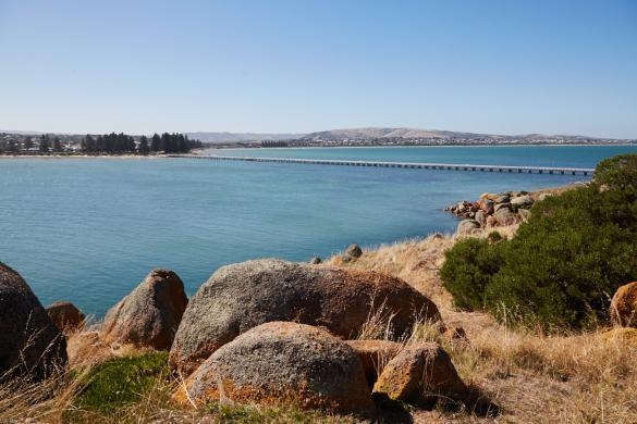 Granite Island, Insel, schoen, Rundgang, etwa 40 Minuten, Spaziergang, spazieren, Nachmittag, Pferdebahn, Brücke, Fußgängerbrücke, Fussgaengerbruecke, Bruecke