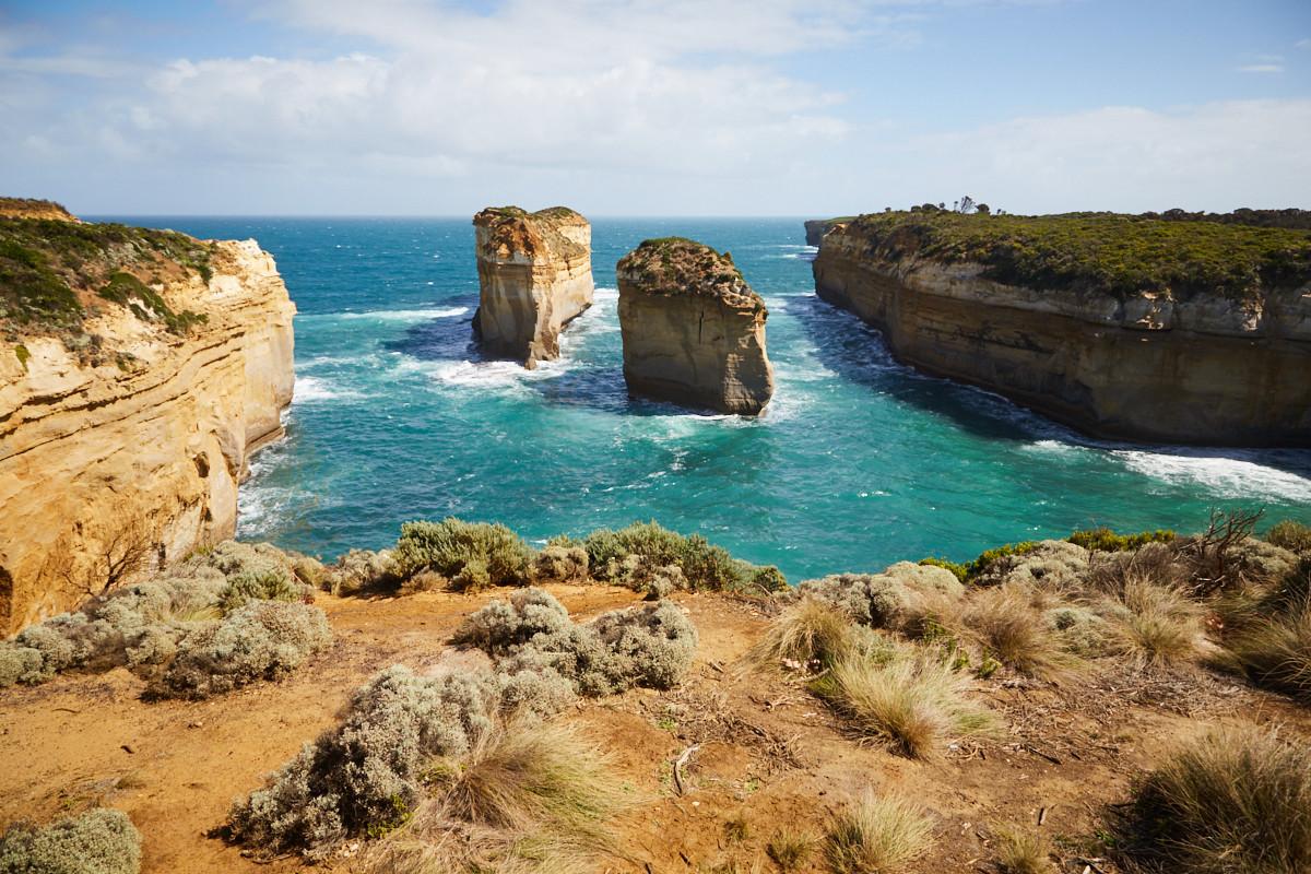 Great Ocean Road, Australien, Küste, Kueste, Küstenabschnitt, Kuestenabschnitt, Klippen, Meer, Viewpoint, Aussichtspunkt, Port Cambell, National Park
