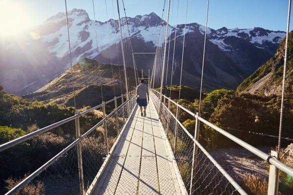 Hooker Valley, Track, Swingbridge, Ronnie, Miles and Shores, hiking, backpacking, Hängebrücke, Haengebruecke, short walk, must see
