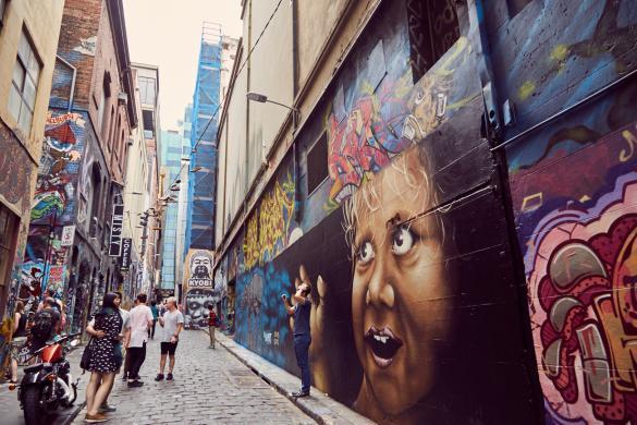 Hosier Lane, Melbourne, Gasse, Straße, Strasse, beliebt, bekannt, Sightseeing, Must See, Sehenswürdigkeit, Citymust, beeindruckend