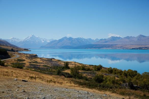 Lake Pukaki, Neuseeland, New Zealand, Mount Cook, turquoise, türkies, See, Gletschersee