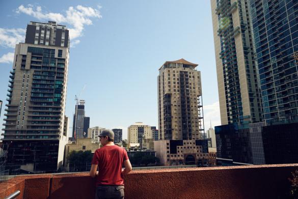 Melbourne, Dachterrasse, Spencer Street, Hochhäuser, Southdocks, Docklands, Stadt, Städtetrip, Australien, Reise, Reisetipps, Miles and Shores, Ronnie, modern, Architektur, wohnen