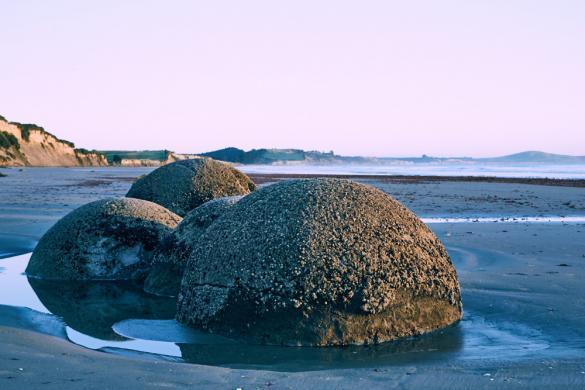 Moeraki, Boulders, Foto, Sonnenaufgang, Sunrise, Strand, Landschaft, Landschaftsfoto, Landscape