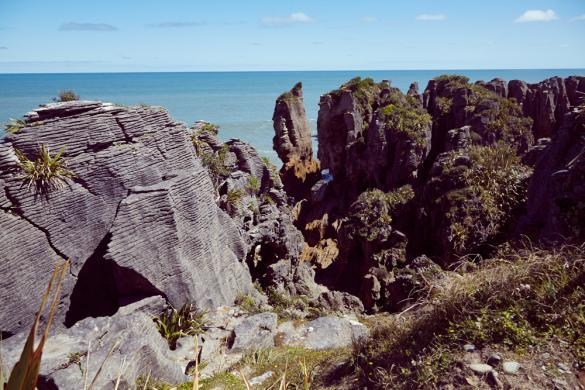 Pancake, Blowholes, Neuseeland, Westküste, Sightseeing, Sehenswürdigkeit, High Tide, Flut, Gezeiten