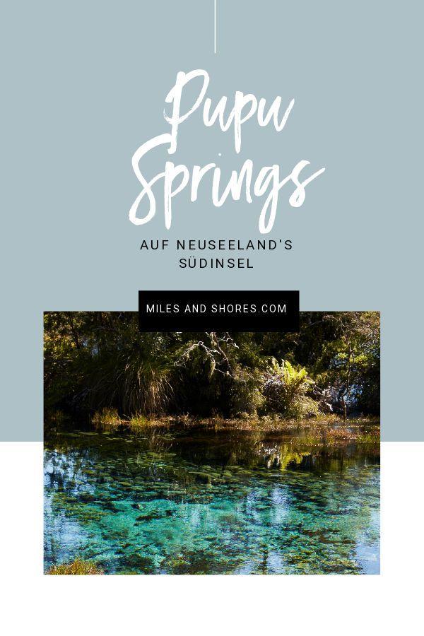 Die Waikoropupū Springs, auch Pupu Springs, auf der Südinsel sind noch ein richtiger Geheimtipp für Neuseeland Reisende! Die kleinen Seen führen das klarste Wasser der Welt und sie sind von verschiedenen Türkis- und Blautönen durchzogen. Eine wirklich wunderschöne Landschaft, die man in der Nähe des Abel Tasman Nationalparks bei einer Neuseeland Rundreise definitiv mitnehmen sollte!l