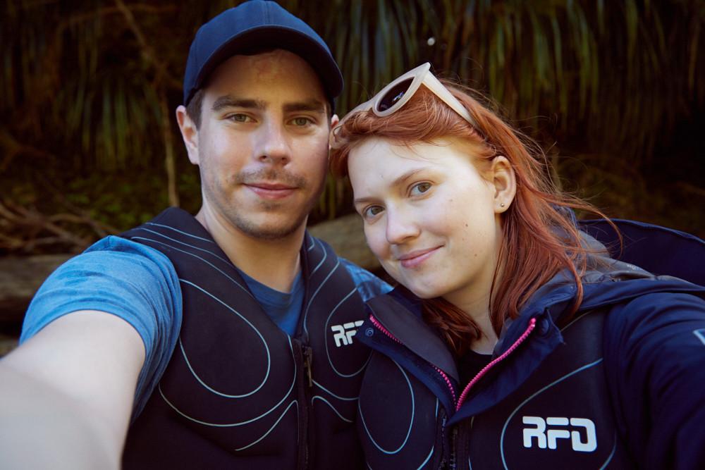 Die Tour auf dem Pororari River in Punakaiki auf der Südinsel von Neuseeland war ein wirklich tolles Erlebnis, wir haben uns sehr gefreut und haben das natürlich in einem Selfie festgehalten.