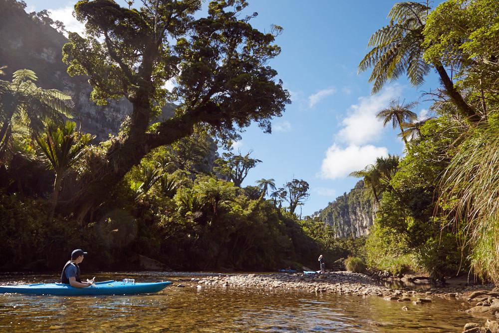 Kayakfahren in Punakaiki & die Pancake Blowholes