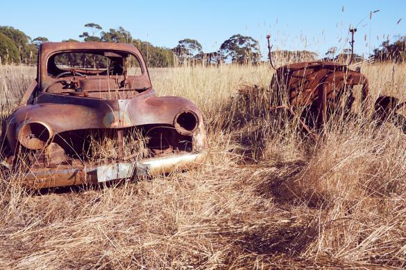 Rotten Cars, verlassene, Autos, Kangaroo Island, Duck Lake, Urlaub, Roadtrip, Miles and Shores, was man so sieht