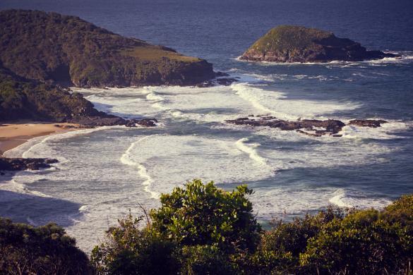 Wanderung, Hat Head, National Park, Wanderung, wandern, Ausblick, view, landscape, beach, waves,