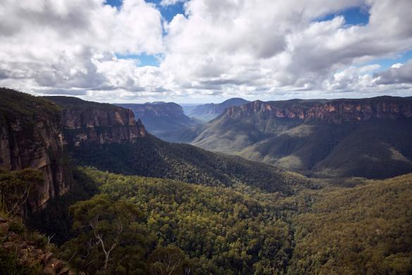 Blue Mountains, NSW, Sydney, things to do, sonnig, schöner Tag, gutes Wetter, Empfehlungen, Pulpit Walk, Lookout, view