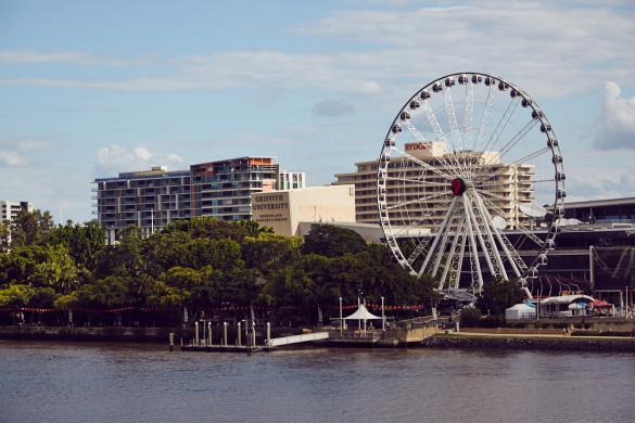 Brisbane, South Bank, Riesenrad, city, walk, walks, good time, things to do, rivercruise, watertaxi