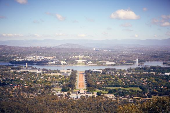 Canberra, Ausblick, view, Parlament, cityscape, Australien, Australia, roadtrip