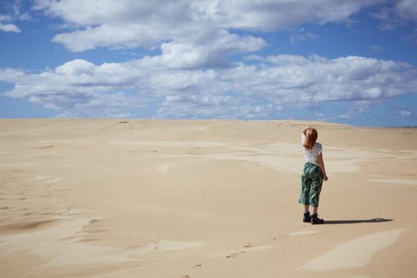 Chrisi, Miles and Shores, Reiseblog, travelblogger, Wüste, Sanddünen, Dünen, Australien, Strand,