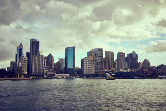 Cityscape, Sydney, Hafen, view, Aussicht, Hochhäuser