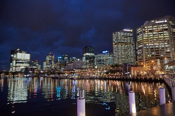 Darling Harbour, Nacht, night, view, cityview, cityscape, Sydney, Australien, Australia, Roadtrip