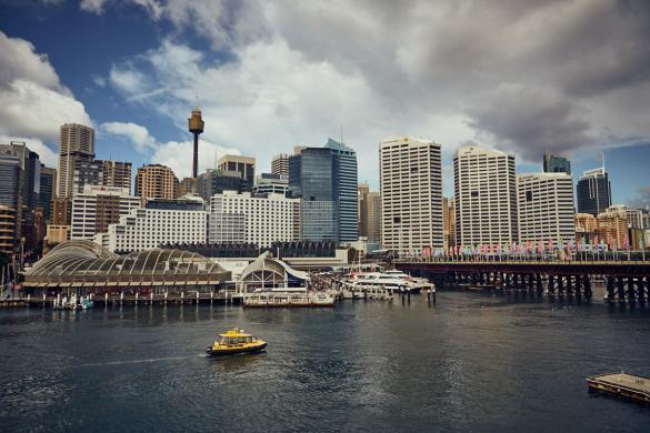 Darling Harbour, Tag, cityscape, Hochhäuser
