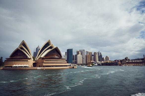 Hafen, Fähre, Fährfahrt, Rundfahrt, Hafenrundfahrt, Sydney, Opera House, Cityscape