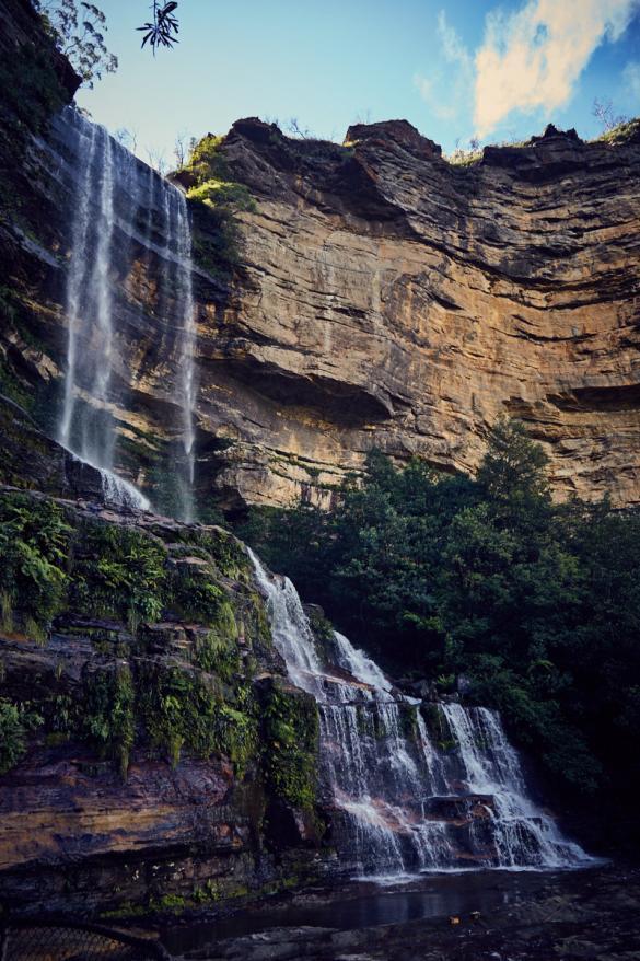 Katoomba Falls, Reiseblog, Miles and Shores, Wasserfall, falls, Blue Mountains, Berge, wandern, Wanderweg