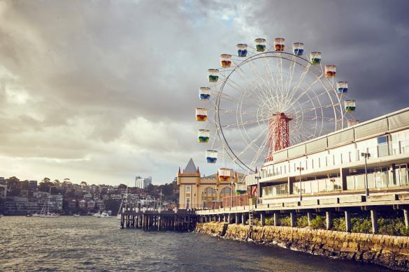 Lunapark, Luna Park, Riesenrad, Vergnügungspark, Fähre, Fährfahrt
