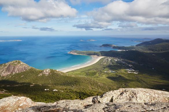 Mount Oberon, Lookout, Berg, Aussicht, Spitze, Gipfel, Tour, wandern, 3km, Wilsons Promontory Nationalpark, National Park, Australien, Roadtrip, Meer, Buchten, Sunny Day