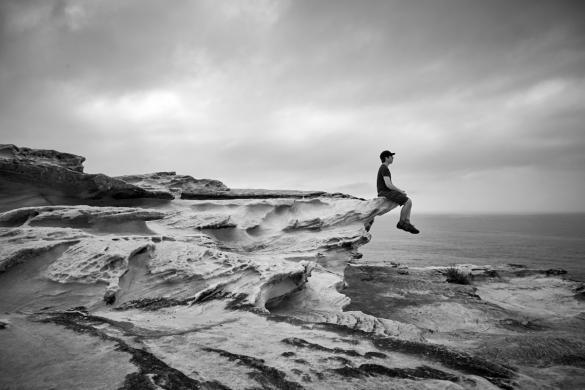 Royal Nationalpark, National Park, schwarz weiß, black and white, Ronnie, Miles and Shores, Ausblick, landscape, Felsen, Felsformationen