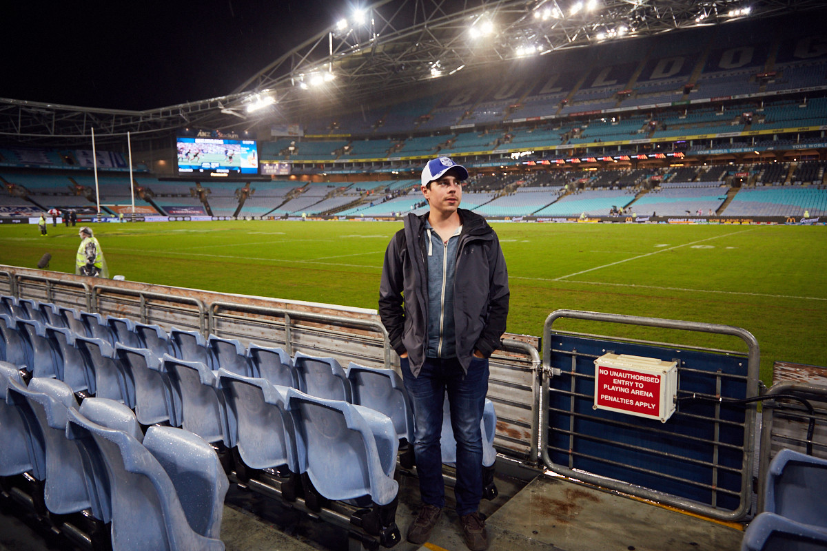 Ronnie, ANZ Stadion, stadium, Sydney, Rugby, Game, Bulldogs, Broncos
