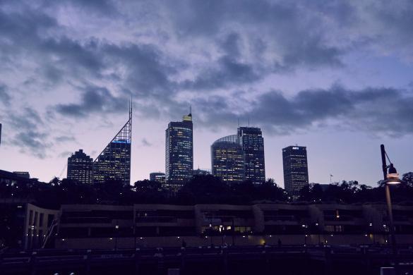 Sydney, Roadtrip, Sonnenuntergang, cityscape,