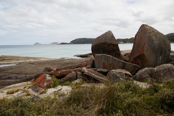 Squeaky Beach, track, Wilsons Promontory, Nationalpark, National Park, Split Apple, Felsen, Rock