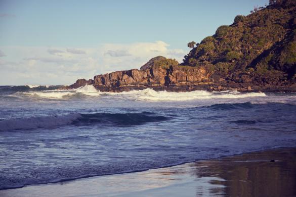 Strand, beach, Ausblick, landscape, Hat Head, Nationalpark, Meer, Wasser