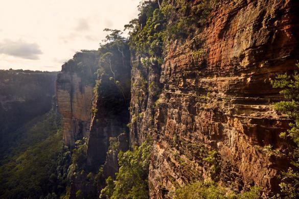 Ausblick, view, three sisters, rocks, Felswand, Blue Mountains, Nationalpark, Wandern, hiking