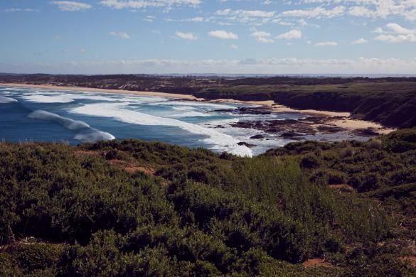 View, Aussicht, Phillip Island, Landschaft, Landscape, Wellen, Meer, Brandung, Küste, Küstenlandschaft