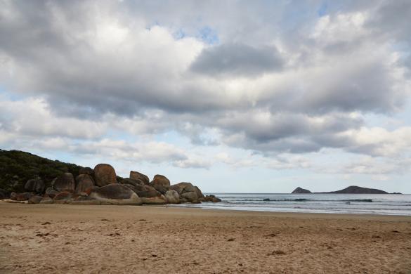Whisky Bay, Wilsons Promontory Nationalpark, Bucht, schön, baden, Strand, Felsen, Reiseblog, Blog, things to see, Australien, Australia