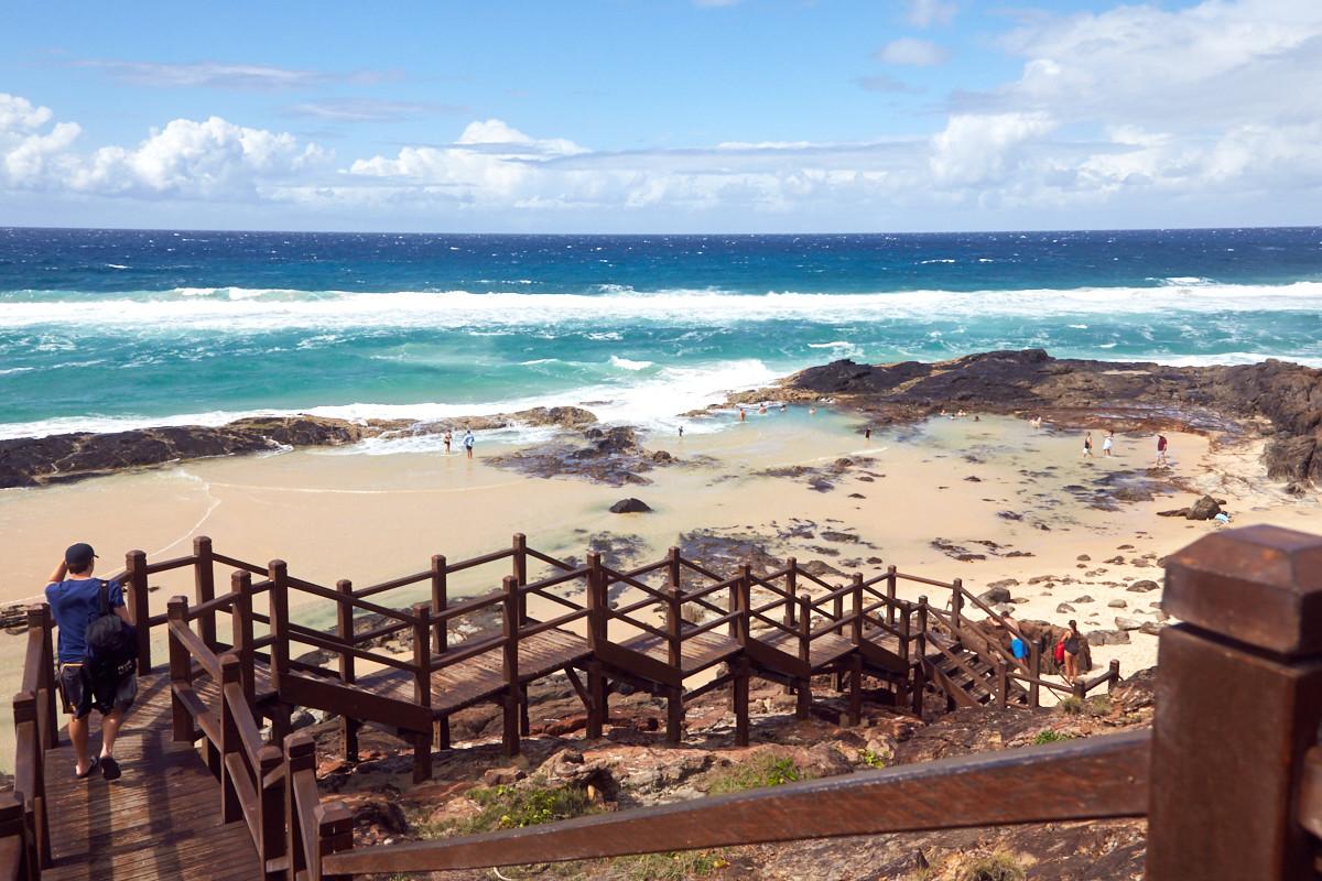Fraser Island, Champagne Pools, natürlich, natuerlich, reiseblog, reisen, travelblog, daytour, Tagestour, UNIQUE, baden, strand, Australien, Roadtrip, Mustsee, Must Do, Must See