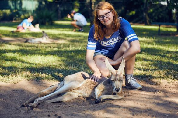 Chrisi, Miles and Shores, Kangaroo, cangaroo, sleepy, grumpy, australia zoo, pet, wallaby,