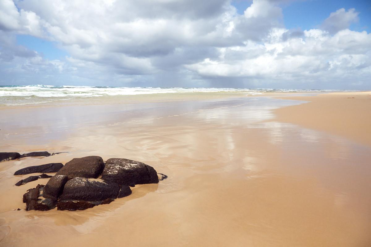 Fraser Island, beach, Strand, Ausblick, view, sand, sea, Meer, Brandung, Australien, wunderschön,