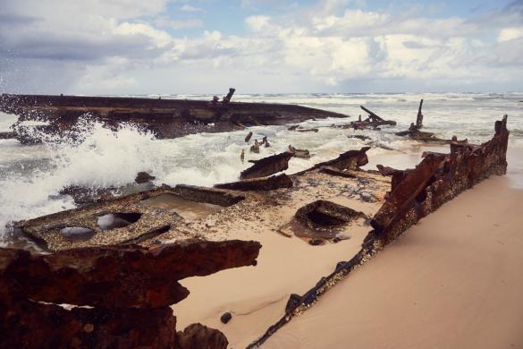 Fraser Island, shipwreck, Schiffswrack, berühmt, berüchtigt, beliebtes Ausflugsziel, Ausflug, Tagestour, ein Tag, daytour, one day, UNIQUE, beach, Strand, shipwrecked