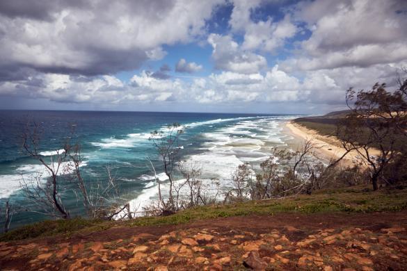 Fraser Island, tour, daytour, Indian Head, Australien, Australia, viewpoint, view, coastline, Küstenlinie, Sandinsel, things to do, things to see